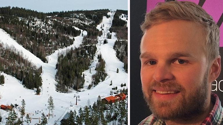 En bild från Romme alpin och en bild på Viktor Funke