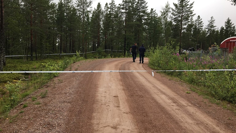 Avspärrat där olyckan i Orsa Rovdjurspark skedde.