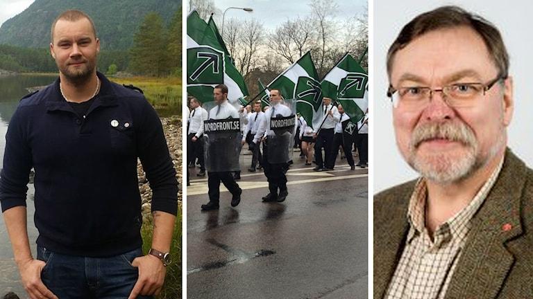 Nazisten Pär Sjören, Nordiska motståndsrörelsens demonstrationståg på 1 maj i Borlänge, samt socialdemokraten Lars Göran Johansson.