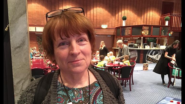 Lena Sevdin-Lund, från Svenska kyrkan, på världens kanske största öppna förskola