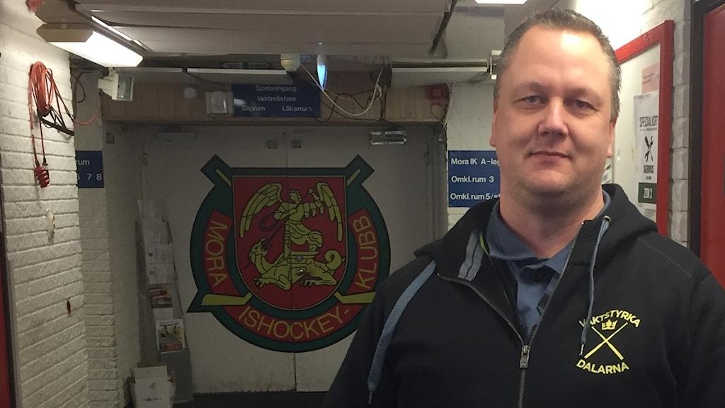 Jan Olsson, säkerhetsansvarig vid Mora IK.