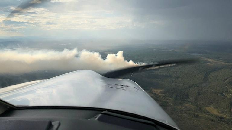 Bild taget från flygplan