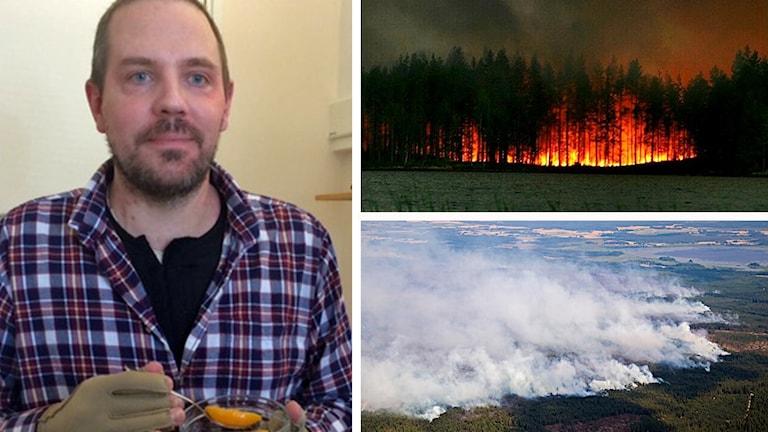 Reine Ullén och bilder från branden