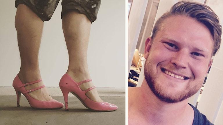 Emil Andersson och hans högklackade skor
