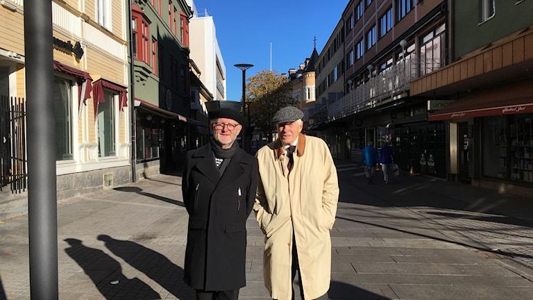 Arkitekterna Jack Hanson och Arne Ludvigsson i Borlänge centrum