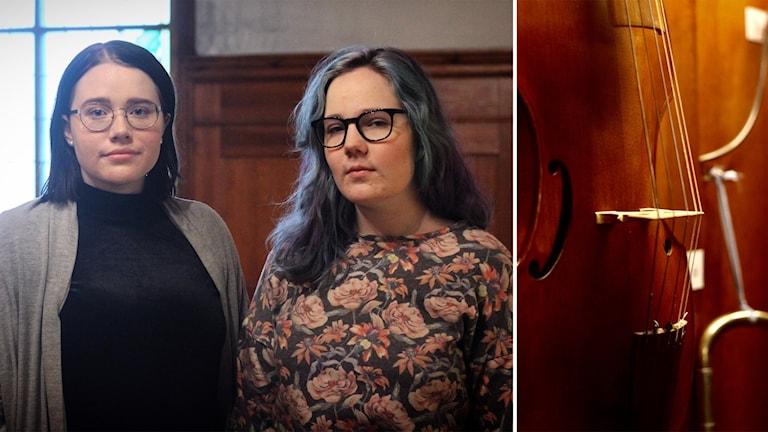 Johanna Ringsby och Petra Kalajdciz har tröttnat på skolstressen på Musikgymnasiet i Falun.