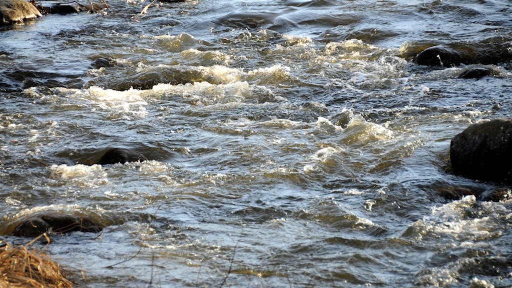 Strömmande vatten.