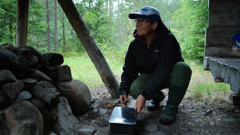 Susanne Mårts yte på fisketur.