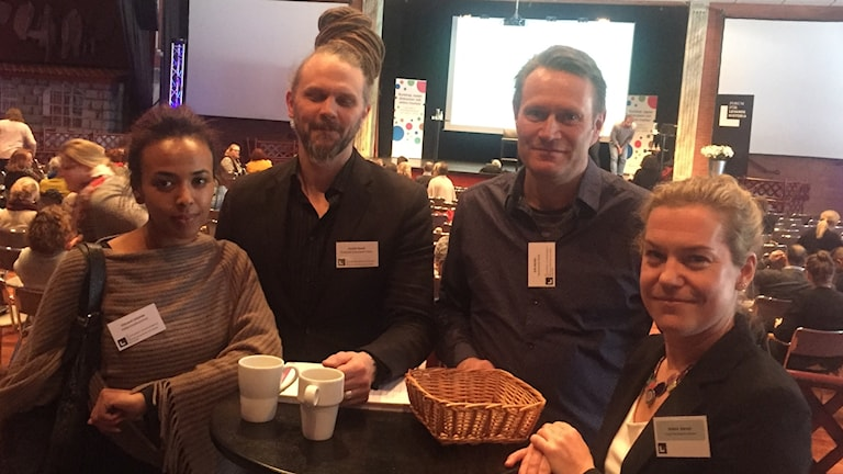 Fitawit Zekarias, Fredrik Garell, Erik Nordin och Helena Barrett