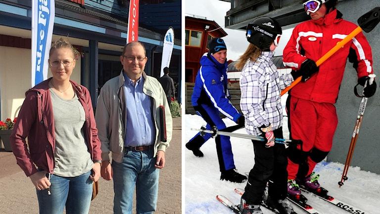Anna Lindberg och hennes pappa Ulf kom till rekryteringsmässan i Moraparken för att söka jobb på någon av fjällanläggningarna i Sälen i vinter.