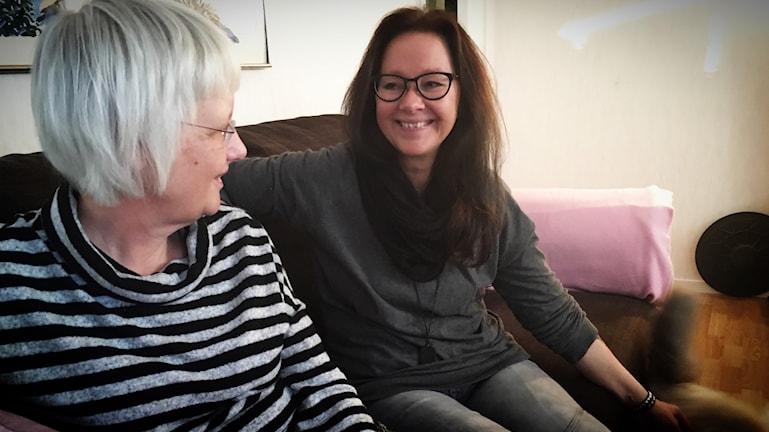 Annika Johansson har haft Katrin Rehnström som kontaktperson i tio år.