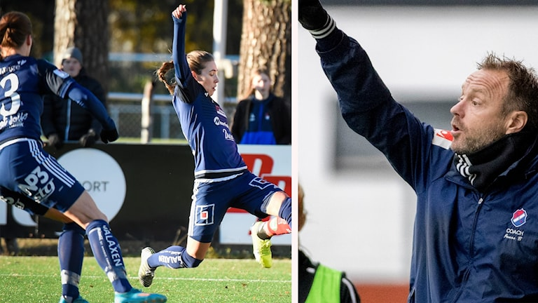Två spelare från Kvarnsveden och Jonas Björkgren
