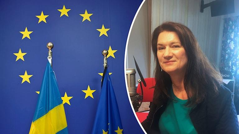 EU-flaggan och Ann Linde