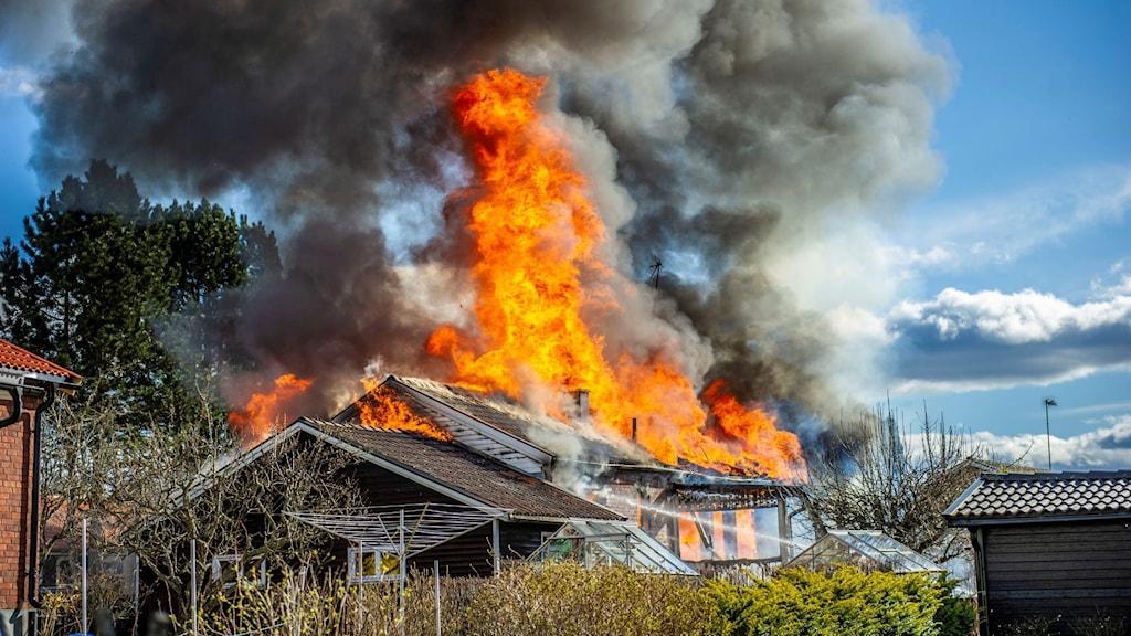Villabrand i Avesta