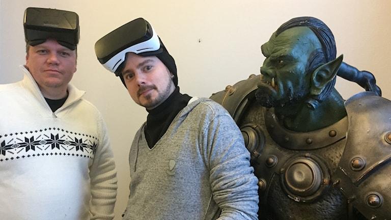 Jon Bylund och Mats Persson på spelutvecklingsföretaget Tension.
