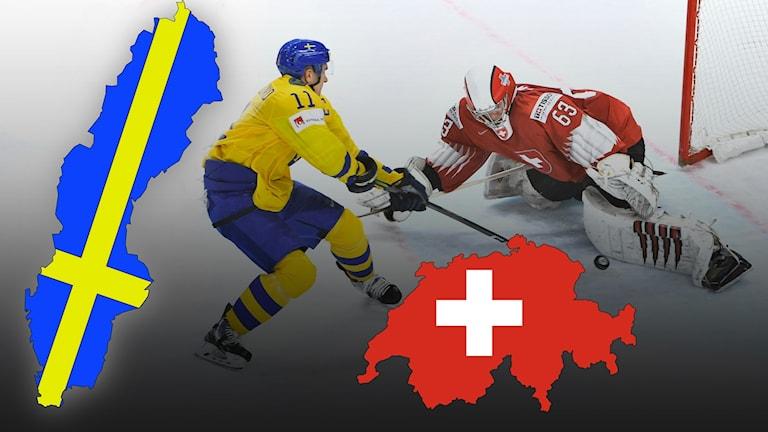 Hockeyspelare från Sverige och Schweiz.