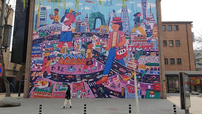 Konstdistriktet 798 i Peking börjat långsamt öppna igen, även om besökarna än så länge är få.