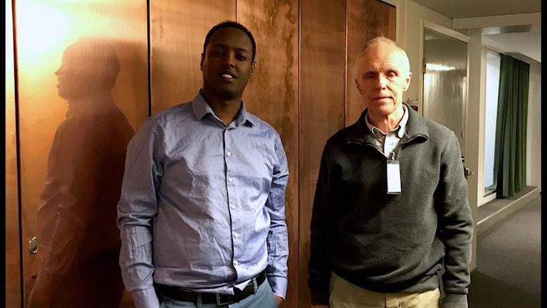 Ahmed Abdirahman och Bo Burström