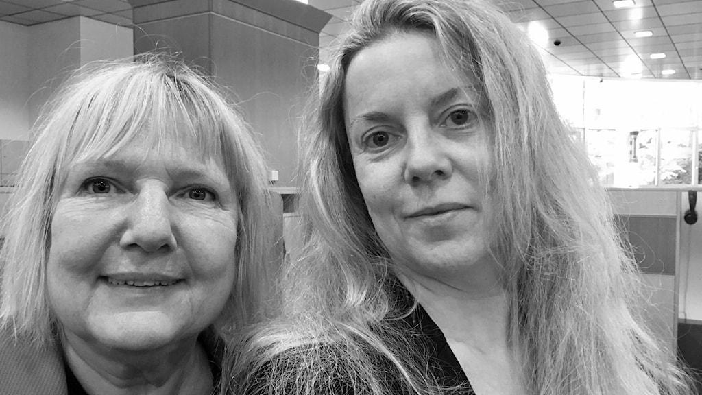 Susanne Palme och Ci Holmgren, på plats i EU-parlamentet i Bryssel.
