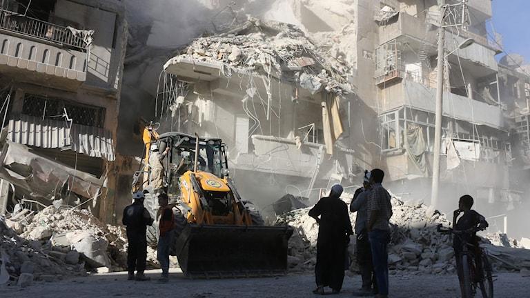 Tariq a-Bab, Aleppo, Syrien 24 september 2016