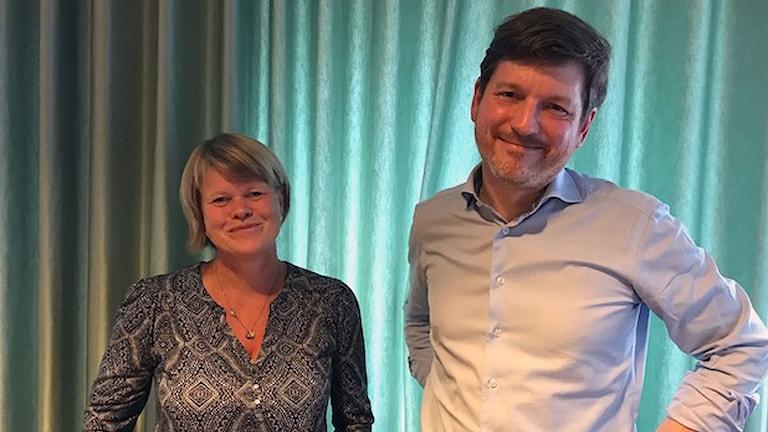 Martin Ådahl, chefsekonom på Centerpartiet och Ulla Andersson  ekonomisk-politisk talesperson.