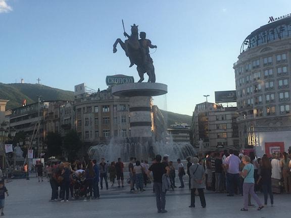 Statyn i Skopje över krigarkungen Alexander den store har retat upp grekerna.
