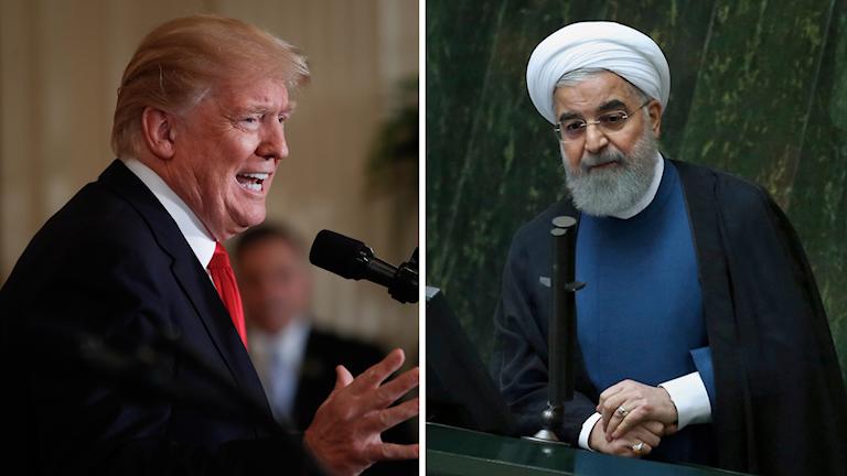 Donald Trump och Ruhollah Khomeini.