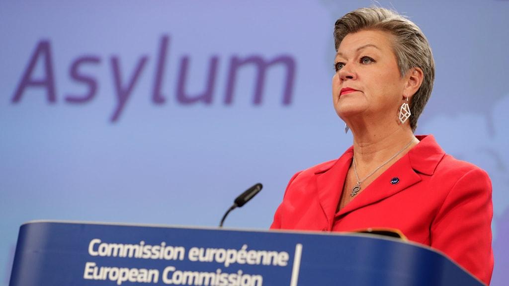 Ylva Johansson presenterade under onsdagen förslaget för EU-kommissionens nya migrationspolitik.