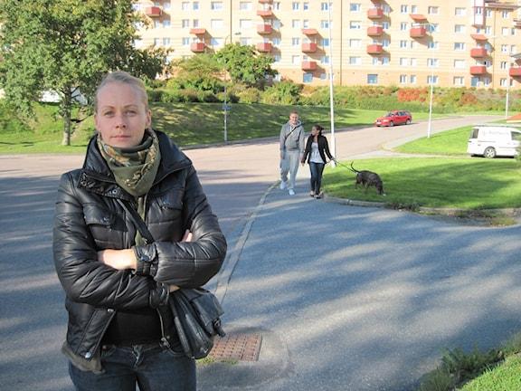 Linda Svensson - en av initiativtagarna till manifestationen mot våld i morgon lördag.