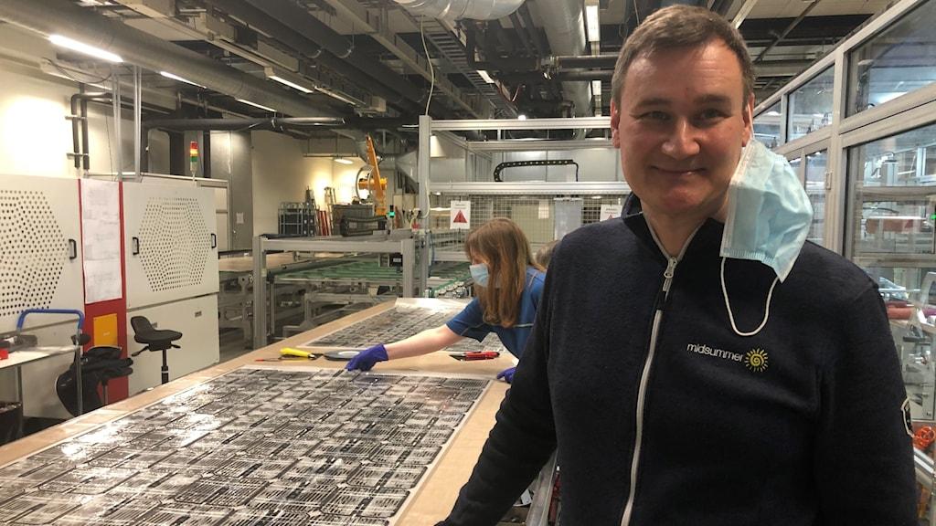 Sven Lindström är grundare och VD på Midsummer som gör tunnfilmssolceller.