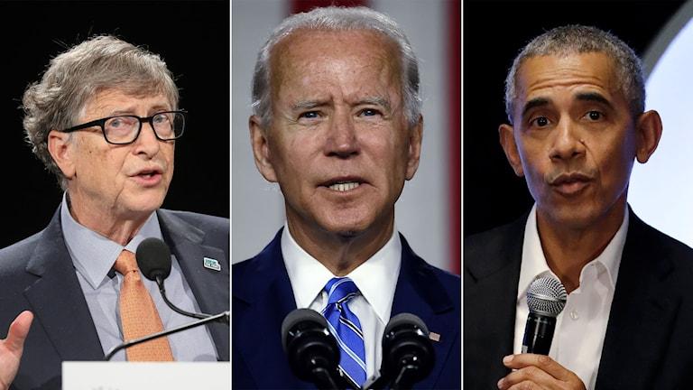 Bill Gates, Joe Biden och Barack Obama