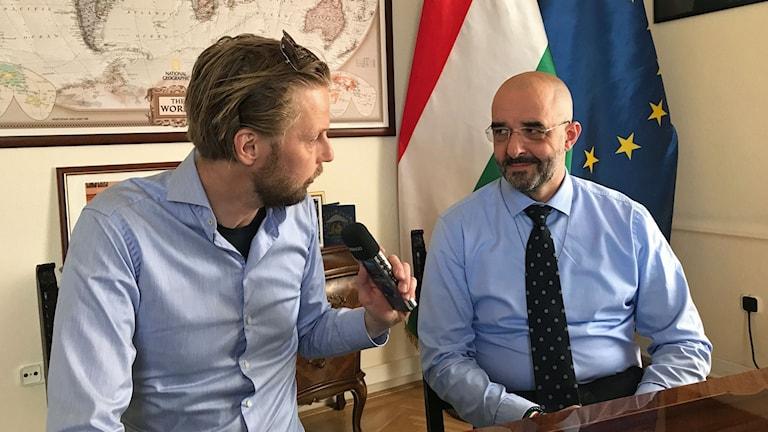 Zoltan Kovacs, regeringspartiet Fidesz internationella talesperson.