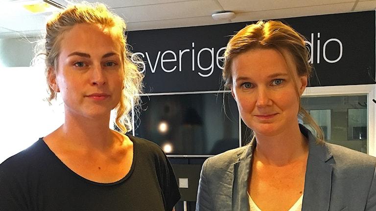 Clara Berglund, generalsekreterare Sveriges Kvinnolobby, och Karin Svanborg-Sjövall, Timbro.