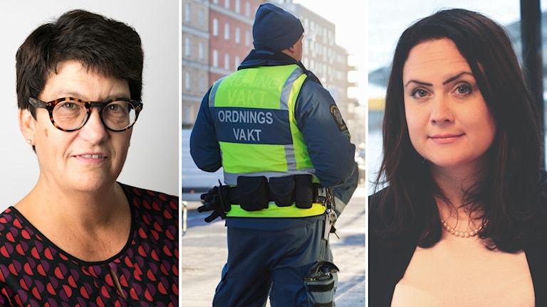 Helle Klein, chefredaktör på Dagens Arbete och Li Jansson, branschchef på Säkerhetsföretagen.