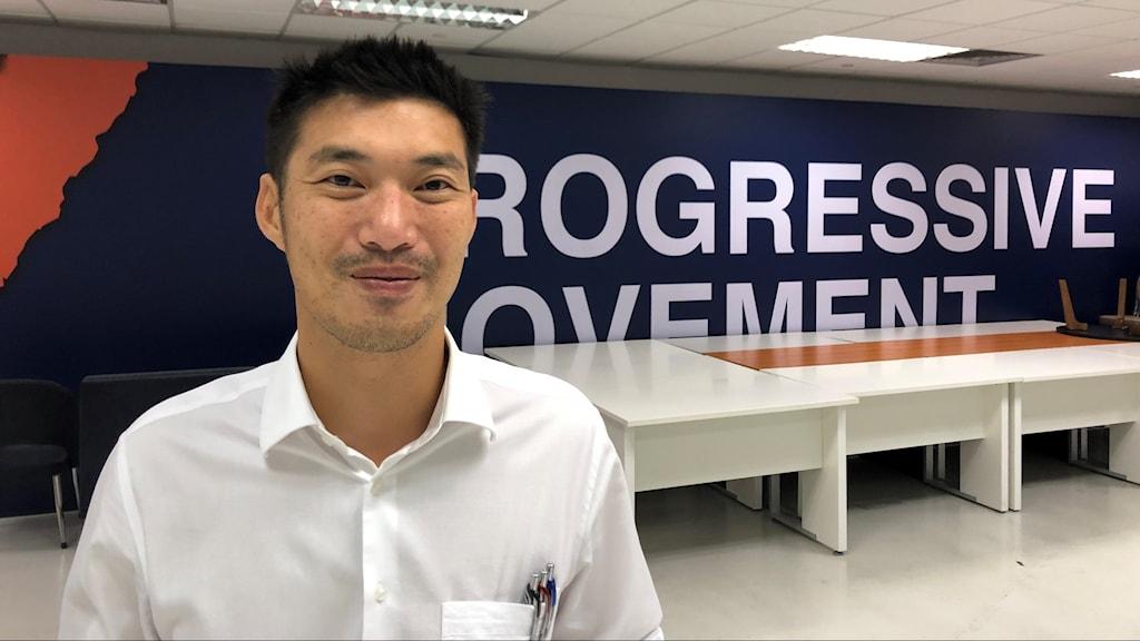 Thanathorn Juanggroongruankit. Avstängd oppositionens politiker och partiledare för det nu förbjudna partiet Future Forward i Thailand.