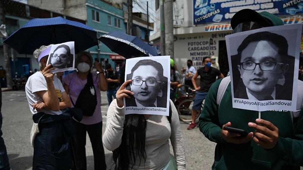 GUATEMALA-POLITICS-CORRUPTION-SANDOVAL-PROTEST