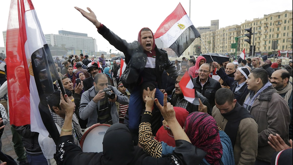Man protesrerar på Tahrirtorget 20111