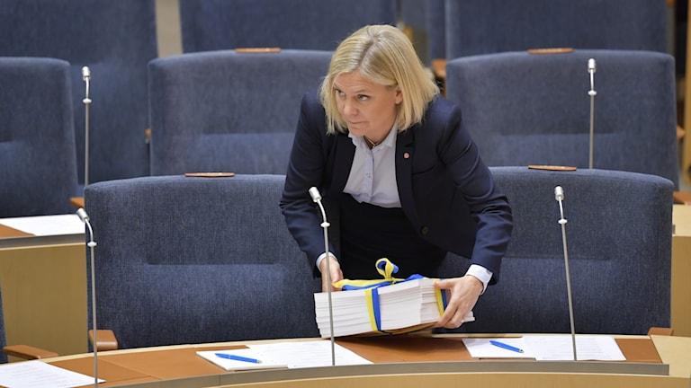 Finansminister Magdalena Andersson (S) presenterade på onsdagen budgetpropositionen för 2020 för riksdagen.