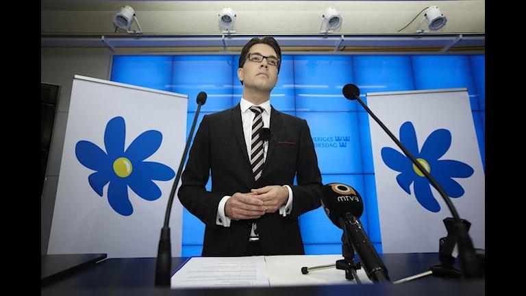 Sverigedemokraternas partiledare Jimmie Åkesson. Foto: Fredrik Persson / Scanpix