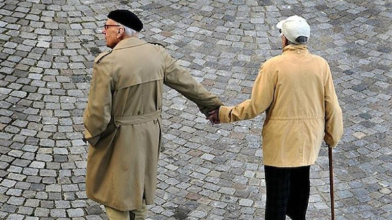 Äldre par. Foto: Hasse Holmberg/Scanpix