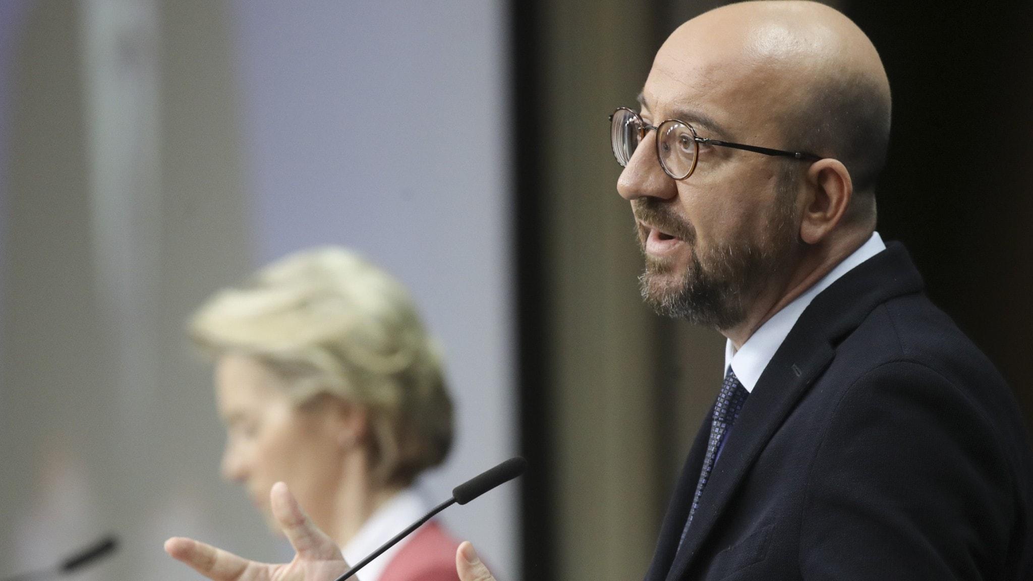 EU-topparna Charles Michel och Ursula von der Leyen.