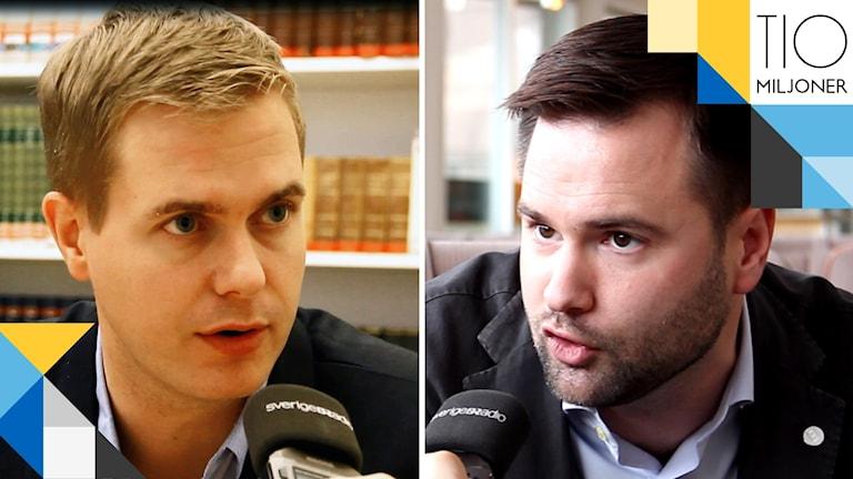 Gustav fridolin och Erik bengtzboe tio miljoner