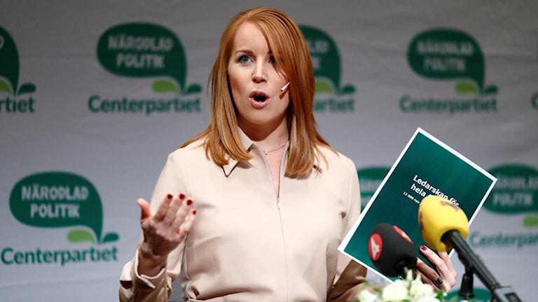 رئيسة حزب الوسط أًني لوف: حزب الوسط يرفض التعامل مع حزب ديمقراطيي السويد