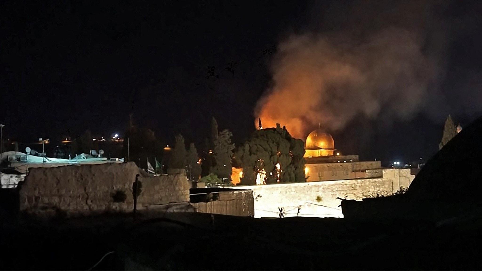 Oroligheterna fortsätter i Jerusalem