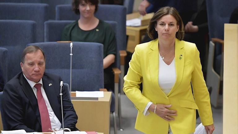 Isabella Lövin (MP), miljö- och klimatminister och Miljöpartiets kvinnliga språkrör.