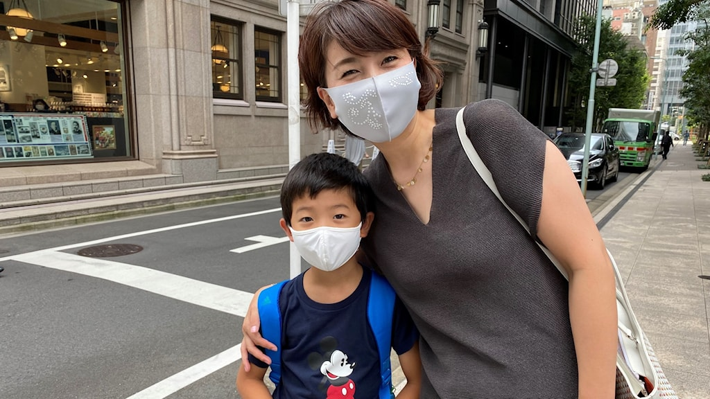 Masayoso och hennes son Osge Gayama är stora OS-anhängare.