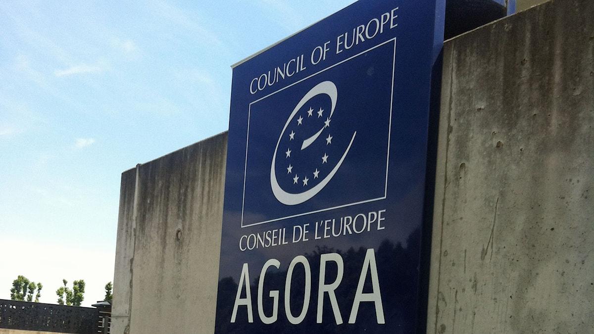 Europarådet i Strassbourg. Foto: Marie Nilsson-Boij/Sveriges Radio.