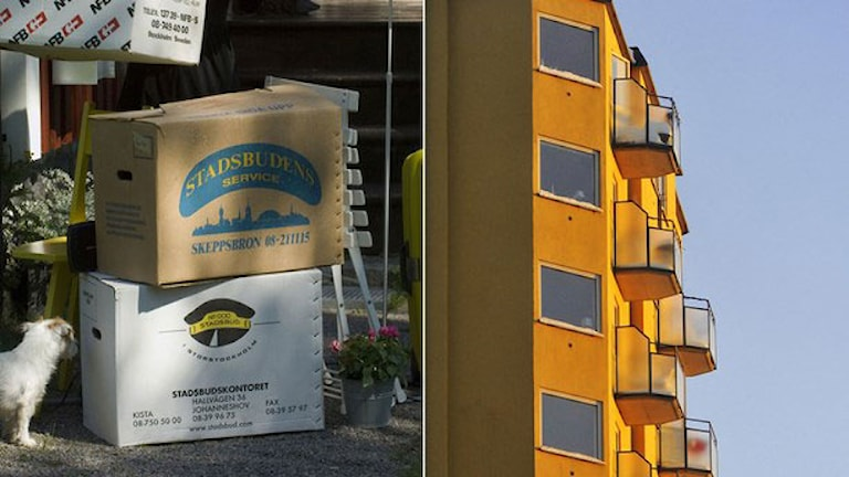 Över 150 000 människor var trångbodda i Sverige förra året, enligt SCB. Foto: TT. Montage: Sveriges Radio.