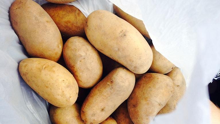 Påse potatis.