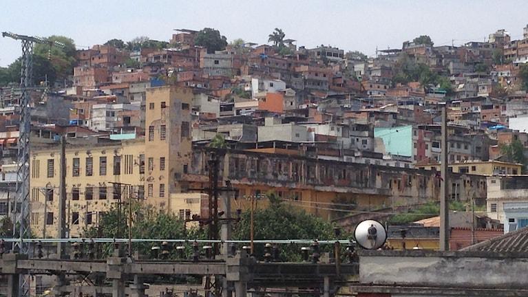 Favela i Brasilien.